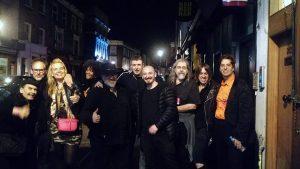 Outside Mau Mau with Pink Cigar karr 300x169 - Crazy Mary Invades London